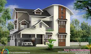 modern mixed roof house in 2479 square feet kerala home design