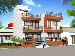 modern 3d 3 storey house floor plans