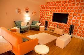 bright and orange room design
