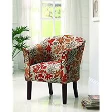 Barrel Accent Chair Coaster460407 Floral Barrel Back Accent Chair Kitchen