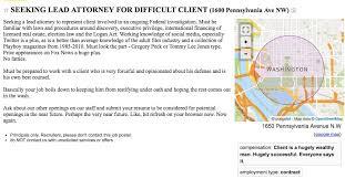 Seeking Text Craigslist Dc Seeking Lead Attorney For Difficult Client