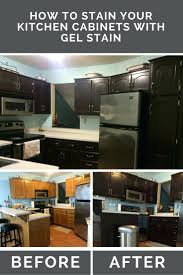 kitchen cabinets gel stain or paint for kitchen cabinets gel