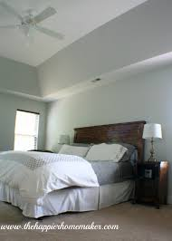 Gray Master Bedroom by Phase 1 Master Bedroom Makeover The Happier Homemaker