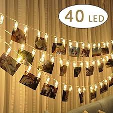 string lights with picture clips cookey led photo clip string lights 40 photo clips 5m battery
