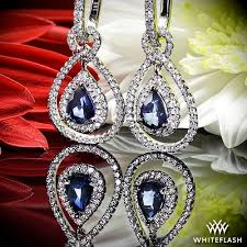 dimond drop blue sapphire and diamond drop diamond earrings 998