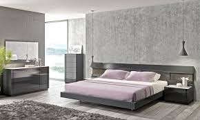 Gray Platform Bed Braga Grey Lacquer Wood Contemporary Platform Bed J U0026m Furniture