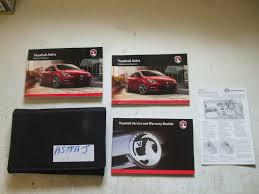 astra j service manual booklet 2012 2014 used