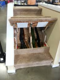 awesome gun storage in the stairs keep it locked until you need awesome gun storage in the stairs keep it locked until you need them