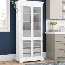 wayfair kitchen storage cabinets three posts hedon 75 kitchen pantry reviews wayfair