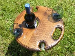 outdoor wine glass holder table outdoor wine table wine glass and bottle holder for 4