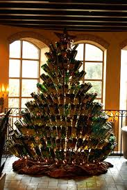 wine bottle christmas tree the yule log 365