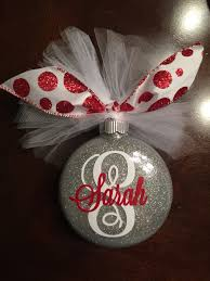 monogram glitter ornament pledge floor