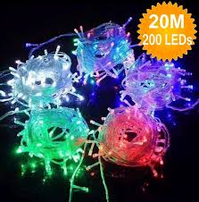 christmas lights outdoor font sale 20m 200 led christmas light string fairy lights garland