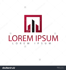 vector abstract property skyscrapers concept design logo design
