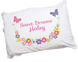 Personalized Girls Bedding by Personalized Pillowcases Etsy