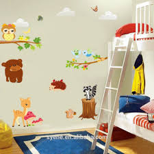 Decoration Kids Wall Decals Home by New Cartoon Animals Tree Zoo Wall Decal Tree 3d Baby Nursery Kids