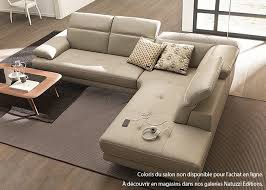 canap cuir natuzzi canapé d angle sienne en cuir coin terminal droit les meubles