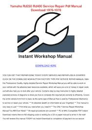 yamaha rd250 rd400 service repair pdf manual by jamisonhair issuu