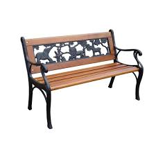Patio Storage Bench Bench Outdoor Benches Lowes Shop Garden Treasures In W X L Patio