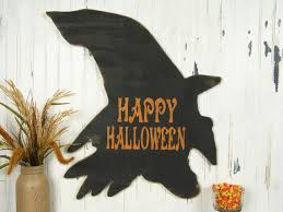happy halloween wood sign witch sign wooden halloween sign