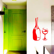 online get cheap wine refrigerator furniture aliexpress com home decals for dining room wine glass wall sticker wall decals for kitchen home decoration decor