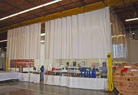 industrial curtain panel for enclosures with roller track systems