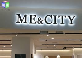 shopping mall led backlit sign box led channel letter signs