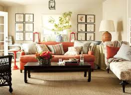 white and orange living room hirea