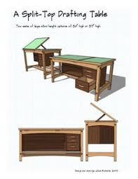 Glass Top Drafting Drawing Table Pattern For A Drafting Table Might Be Useful With Modifications