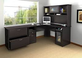 brilliant black wood corner desk computer fabri wooden intended decor