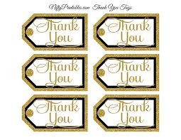 thank you tags black gold thank you tags rect nifty printables