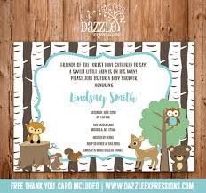 woodland baby shower invitations printable woodland baby shower invitation neutral forest