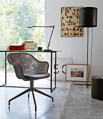 Upholstered Swivel Desk Chair Contemporary Office Chair Swivel On Casters Upholstered