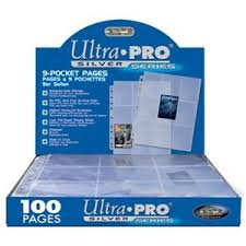 9 pocket pages 50 ultra pro silver 9 pocket trading gaming card album pages