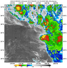 Map Of Pacific Ocean Nasa Infrared Imagery Shows Wind Shear Blowing Cyclone 14p Apart