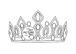 crown coloring page for girls printable free