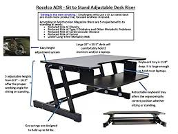 amazon com rocelco adr basic height adjustable sit stand desk
