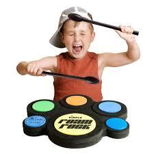 amazon com kids electric drum set with foam drum pads 4
