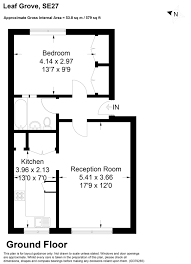 floor plan area calculator 1 bedroom property for sale in leaf grove west norwood se27