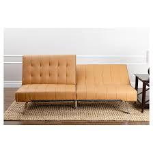 Futon Sofa Sleeper Jackson Leather Foldable Futon Sofa Bed Camel Abbyson Living
