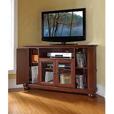crosley alexandria 48 in corner tv stand vintage mahogany