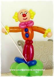 clown baloons clown balloon centerpiece twisting balloon clown