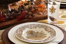 thrift store thanksgiving tableware house of hawthornes