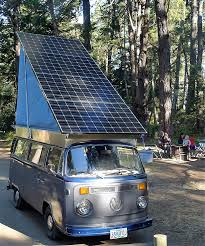 volkswagen hippie van name family creates solar electric volkswagen camper van