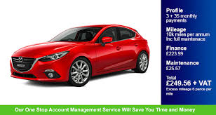 mazda account contract hire a mazda 3 and enjoy a great service
