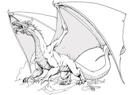 dnd dragon coloring free printable coloring pages