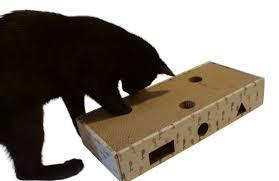 Cat Scratcher Cat Toy Box And Cardboard Scratcher With Jingle Balls U2013 Feline Be Mine