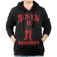 Bad Boy Records Men Death Row Records Bad Boy Records Stand Collar Jacket Hoodie