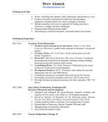 Narrative Resume Resume Drew Adamek