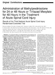 administration of methylprednisolone for 24 or 48 hours or
